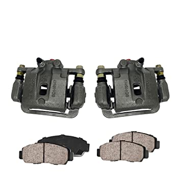 Hardware Kit Callahan CCK03530 FRONT Premium Loaded OE Caliper Pair Ceramic Brake Pads