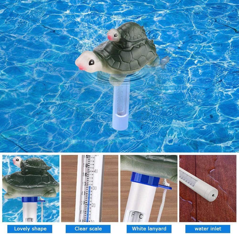 spas Agua de ba/ño para beb/és acuarios VENTDOUCE Term/ómetro de Piscina Flotante jacuzzis Term/ómetro de Gran tama/ño de Dibujos Animados de Tiburones con cord/ón para Piscina ba/ñeras de hidromasaje