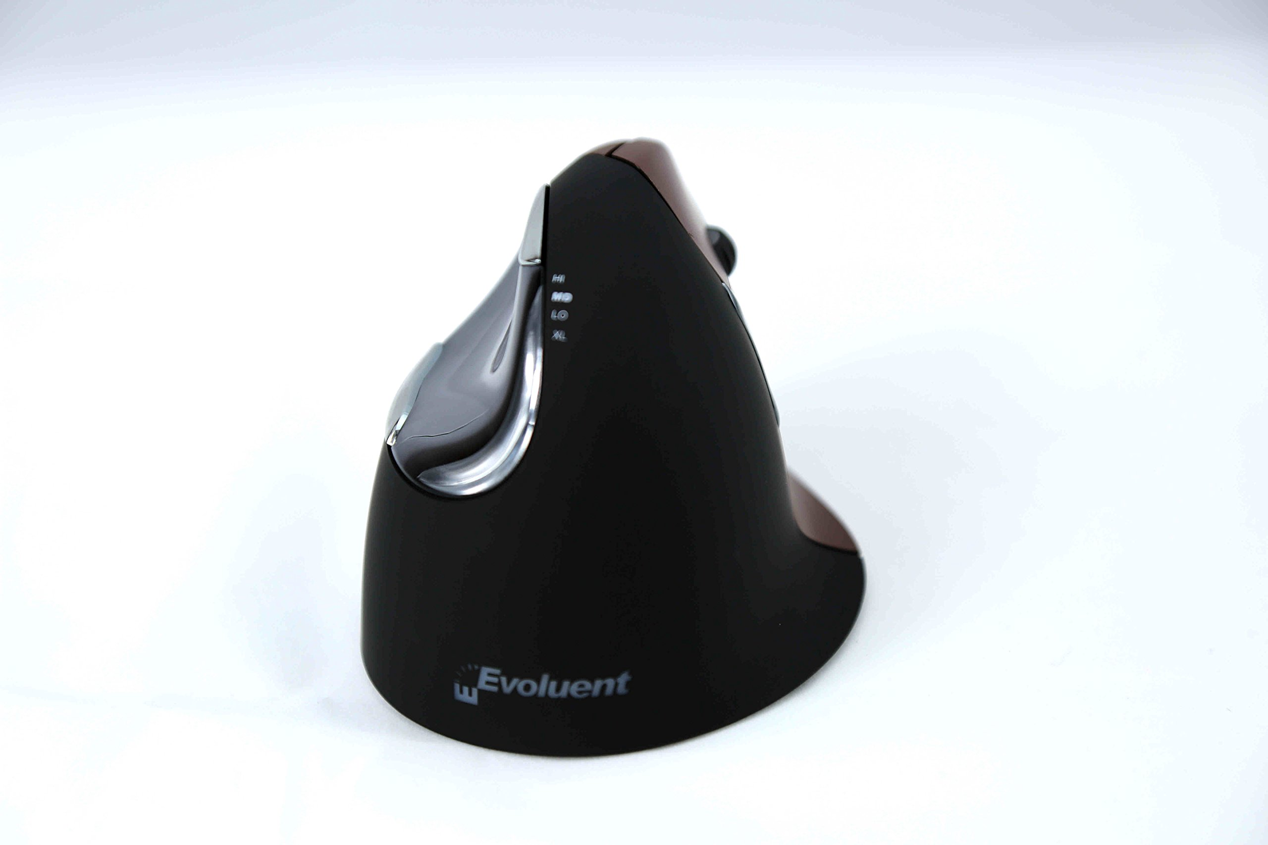 Evoluent - Ergonomical Wireless VerticalMouse & Jestik Microfiber Cloth - Right Handed - Small Size - Brown & Black by Evoluent (Image #2)
