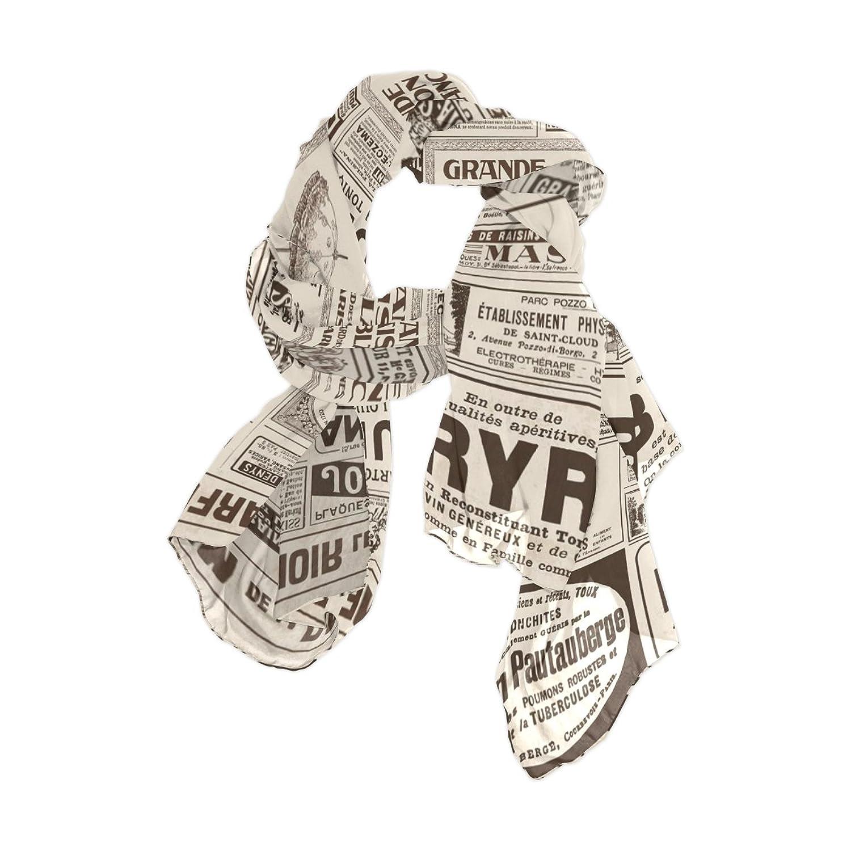 Lightweight Shawl Wrap Sheer Scarves,Retro Newspapers 3 (1),Oblong Chiffon Scarf