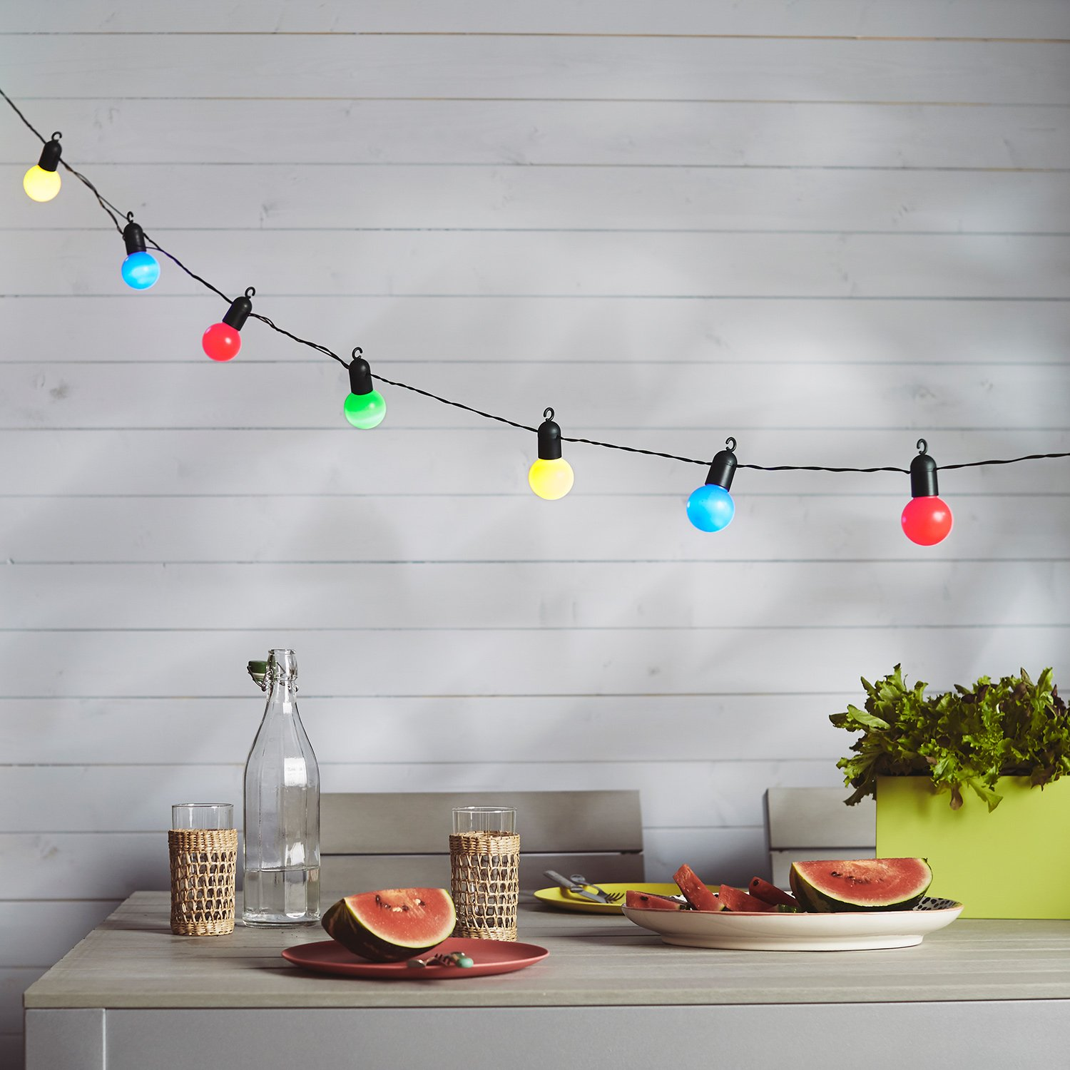 20 multi coloured led festoon party lights for indoor outdoor use by 20 multi coloured led festoon party lights for indoor outdoor use by lights4fun amazon kitchen home aloadofball Choice Image