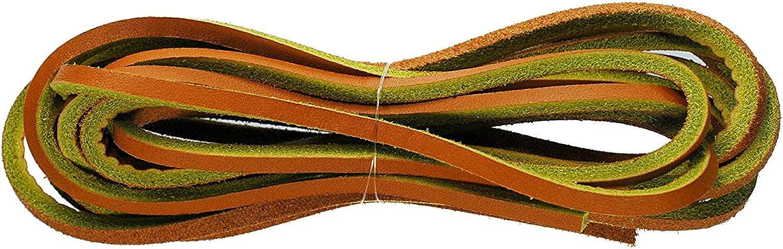 TZ Laces Cuero Cuadrado Corte 120cm x 3 a 4mm Deck Zapato/Cordones de Botas Chancletas