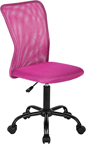 Ergonomic Office Chair Mesh Computer Chair Small Desk Chair Back Support Lumbar Support Modern Executive Adjustable Chair Mid Back Task Rolling Swivel Chair