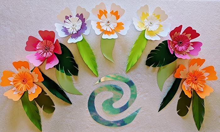 Amazoncom Hibiscus Paper Flowers For Moana Backdrops Includes 7
