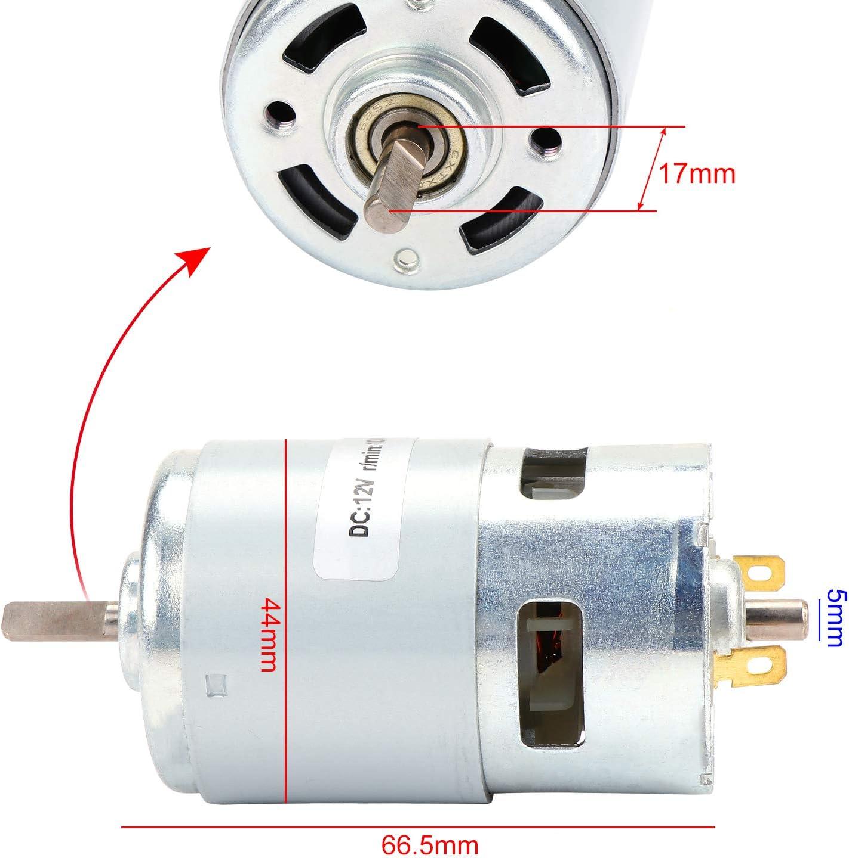Doppelkugellager High Speed Mini Elektromotor KEESIN 12V 10000 RPM DC Motor Ersatzmotor f/ür DIY Electric