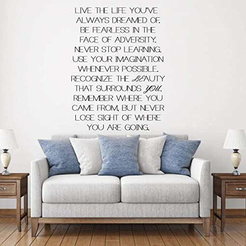 Amazoncom Live The Life Youve Always Dreamed Of Beautiful Quote