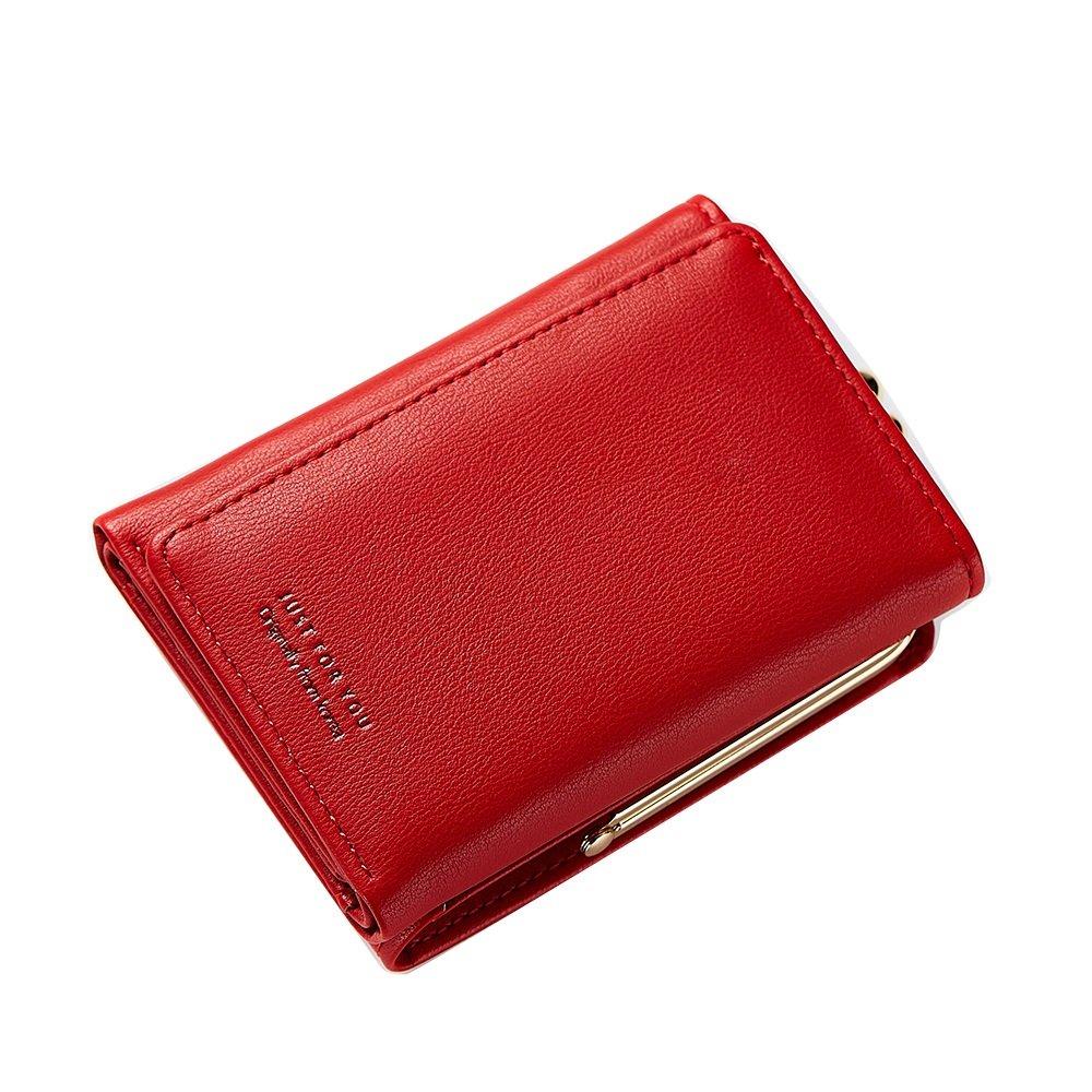 HHF Bourses et Portefeuilles Petit porte-cartes Porte-monnaie pour femmes à main Porte-monnaie à la mode Multi-carte Simple Lady Wallet