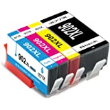 BJTR 4 Pack Compatible Ink Cartridges Replacement for HP 902XL 902 XL, Works with OfficeJet Pro 6978 6968 6958 6962 6960 6970