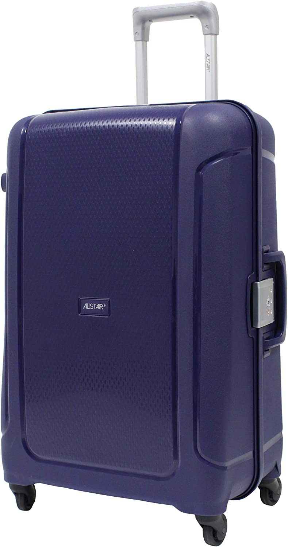 ALISTAIR X-Lock Valise Trolley Moyenne 67cm 4 Roues Bleu Marine Polypropyl/ène Ultra l/ég/ère et r/ésistante Marque fran/çaise