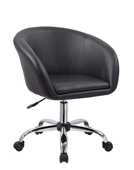Pleasant Duhome Swivel Chair On Casters Desk Chair Black Height Adjustable Swivel Stool With Wheels And Backrest Faux Leather Colour Selection Wy 440F Gmtry Best Dining Table And Chair Ideas Images Gmtryco
