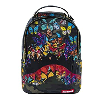 096103fb708a5a Amazon.com | Sprayground Butterfly Shark Mouth Backpack Multicolor, One  Size | Casual Daypacks