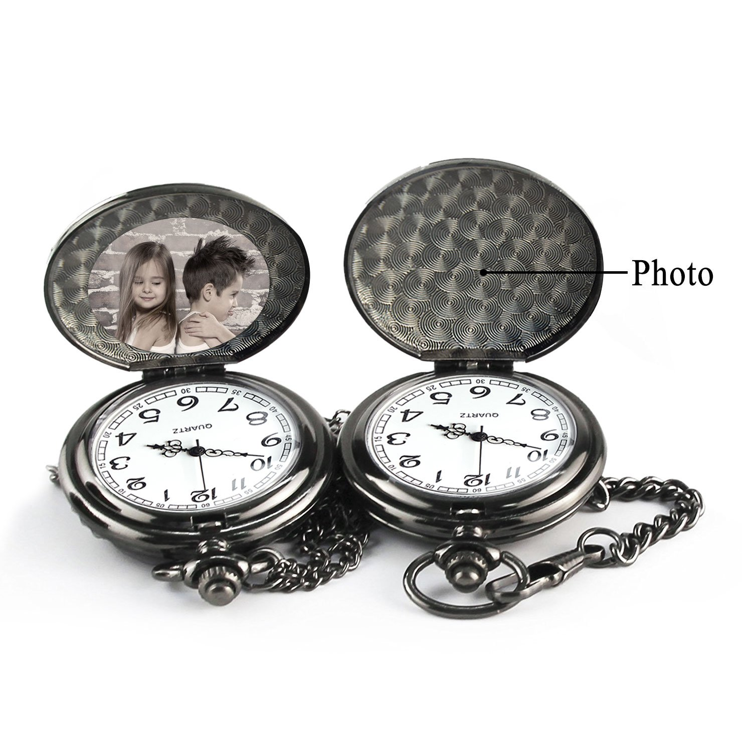 Brother Gifts for Birthday or Anniversaries Graduation Novelty Gift to Big Brother from Brother or Sister Engraved Pocket Watch with Gift Box for Men (Love Sister Black) by Samuel (Image #3)