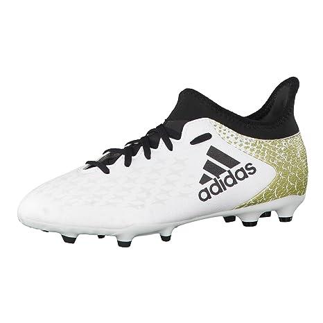 adidas X 16.3 FG J, Botas de fútbol para Niños, Blanco (Ftwbla/