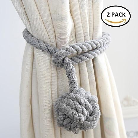 WINSHEA 2 piezas clips cortina atados de cortina cuerda de cortina abrazaderas de presillas de hebillas