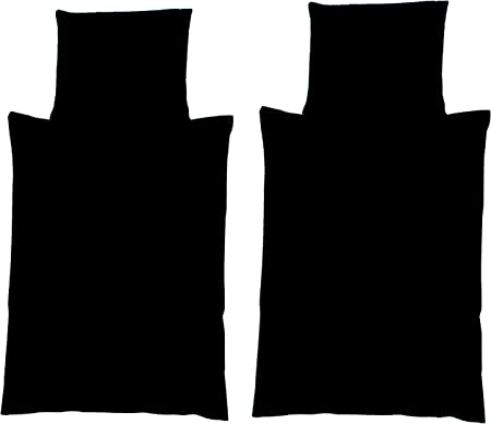 4 tlg Wende Bettwäsche 135 x 200cm Steine schwarz 2 Garnituren