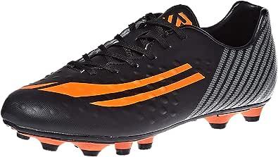 Response Soccer Shoes for Men, Black, Silver & Red