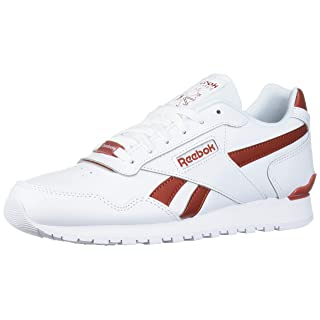Reebok Men's Classic Harman Run Sneaker, White/Mason Red, 5 M US