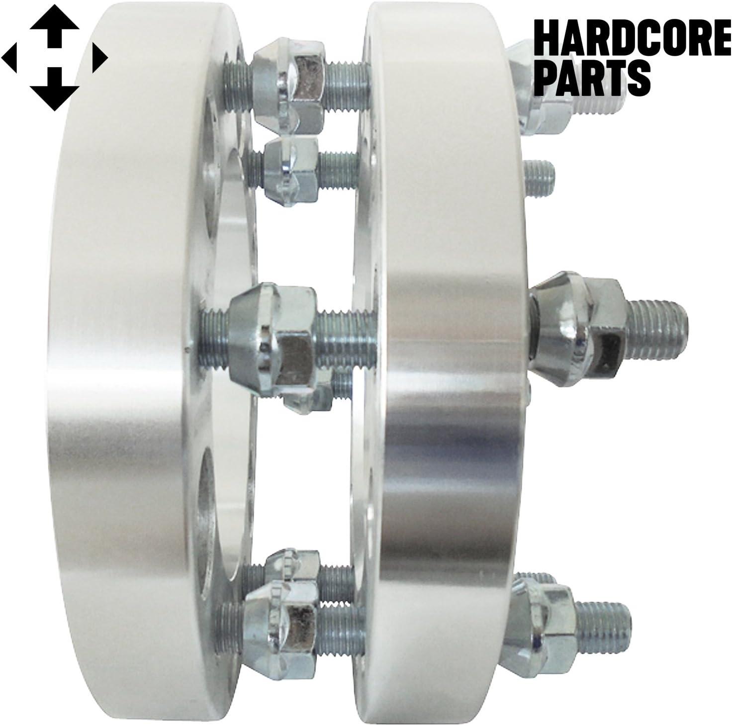 2pc Wheel Spacers Adapters 1.5 6x5.5 6x139.7 12x1.5 Threads Toyota Isuzu Chevroloet GMC Dodge Ford Honda Hummer Hyundai Isuzu Lexus Mazda Mitsubishi