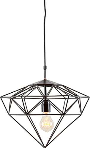 Light Society Sussex Small Pendant Light in Matte Black LS-C216-BLK