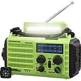 5000mAh Weather Radio, Emergency Solar Hand Crank Portable Radio, 5-Way Powered AM/FM/SW/NOAA Weather Alert Radio…