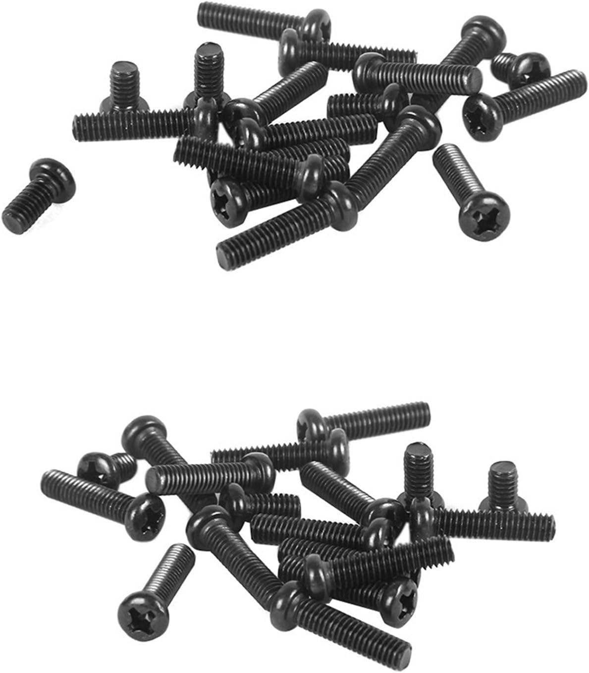 Negro /óxido de acabado M3/M4/rosca tama/ño 8/mm a 20/mm Longitud comdox 320-pack Phillips Cruz washer-head m/áquina tornillos tuercas surtido Kit totalmente roscados de acero al carbono