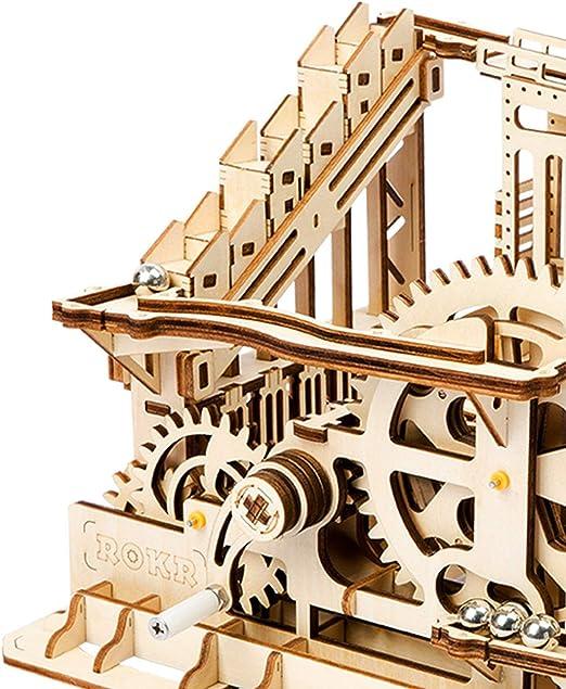 Kits de construcción de modelos mecánicos 3D rompecabezas de madera, elevación de madera posavasos de mármol-kit de construcción mecánica con bolas juguetes regalos para adultos y adolescentes,A: Amazon.es: Hogar