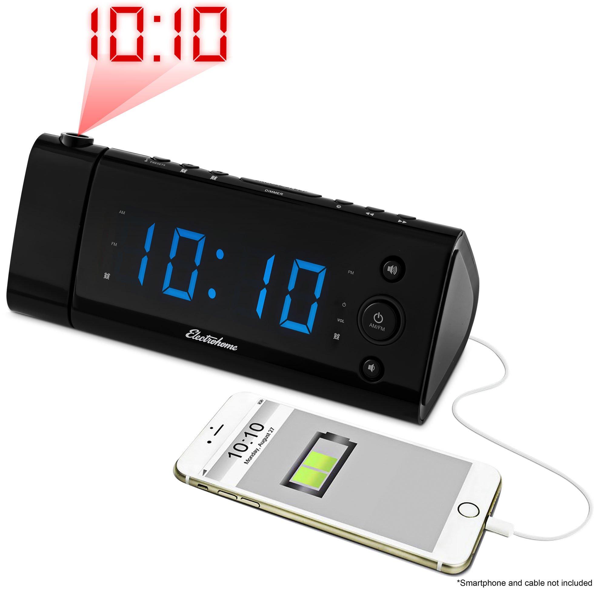 electrohome usb charging alarm clock radio manual