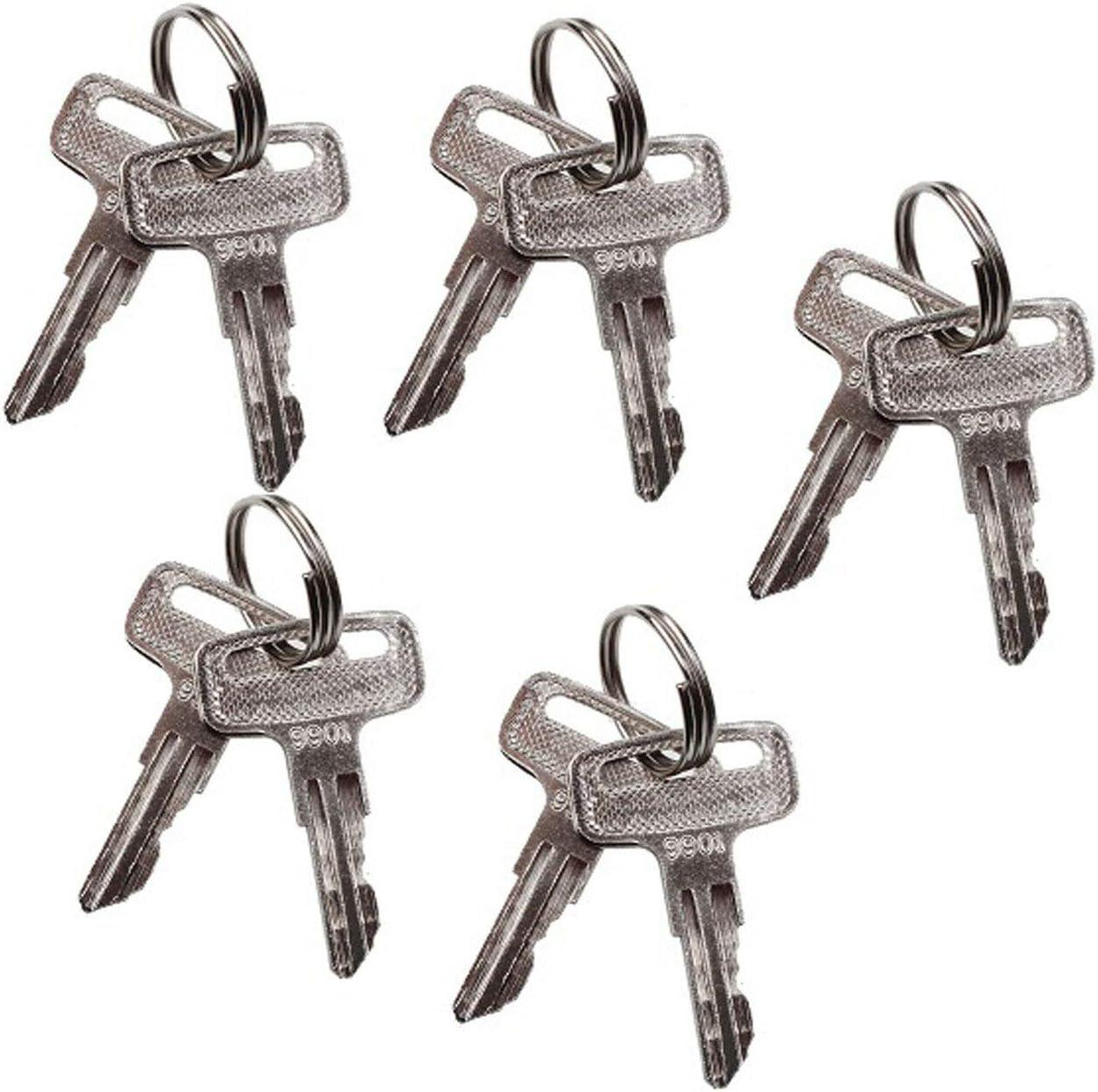 FridayParts 5 Pairs Ignition Key 9901 for JLG Manlift JLG Lifts 2033E3 1932E3 1532E2 1932E2 2632E2 3246E2 2032E2 2646ES