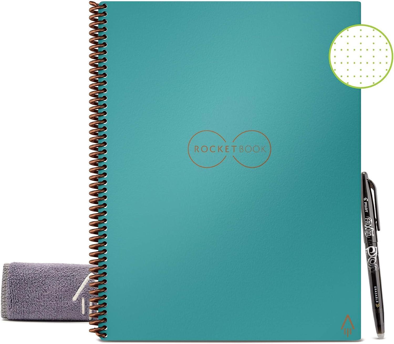 Cuaderno Rocketbook Reusable Por Siempre (22x28cm) celeste