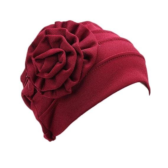 4e08550e6e0 Tonsee® Women Stretch Turban Hat Chemo Cap Hair Loss Head Scarf Wrap Hijab  Cap (A)  Amazon.co.uk  Clothing