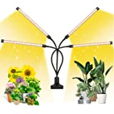 EZORKAS LED Growth Light, Four Head Timing,5 Dimmable Levels, Plant Grow Light for Indoor Plant with Full Spectrum,Adjustable