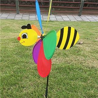 Kangnice girandola con animale carino Bee Windmill 3D Whirligig Home Garden yard Decor Bee