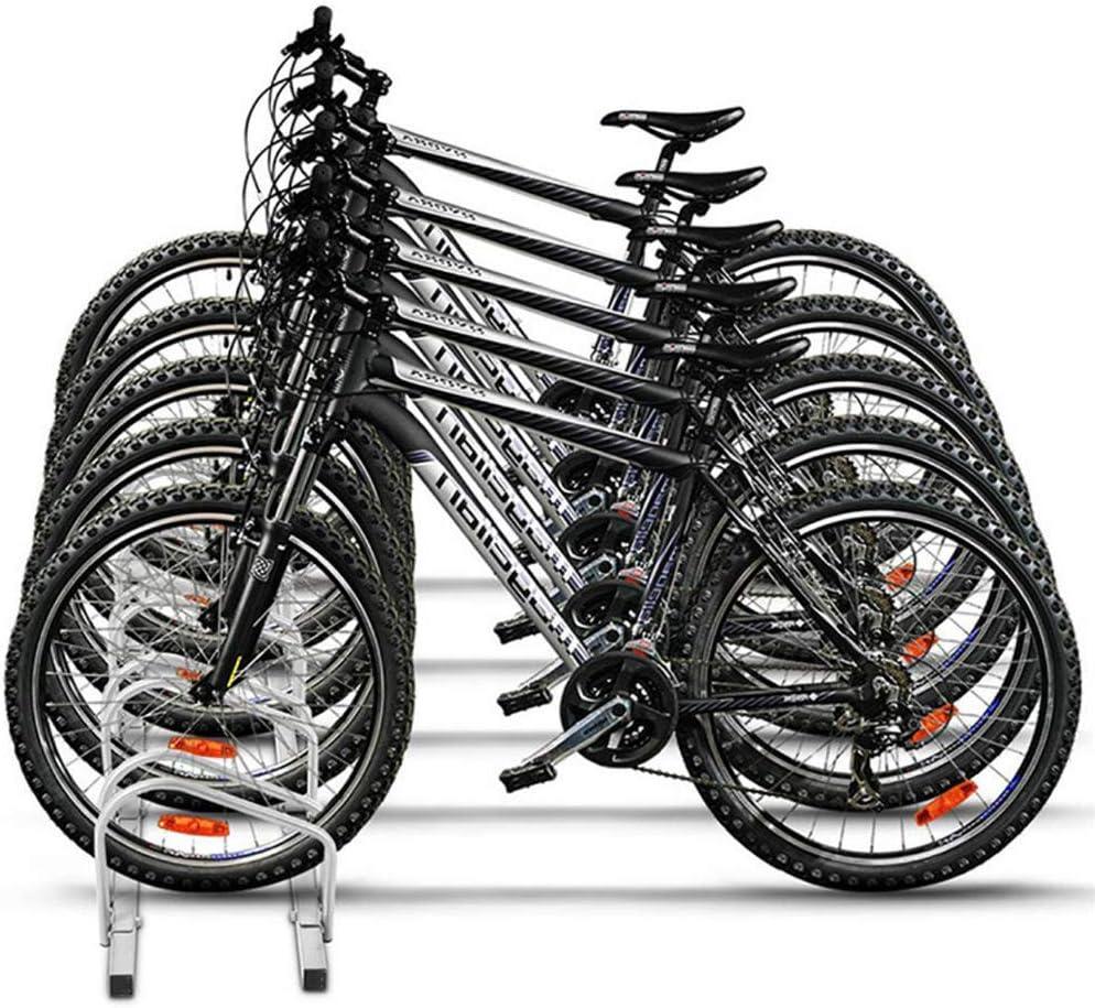 AUFUN Aparcamiento para 5 bicis Soporte para aparcar Bicicletas en ...
