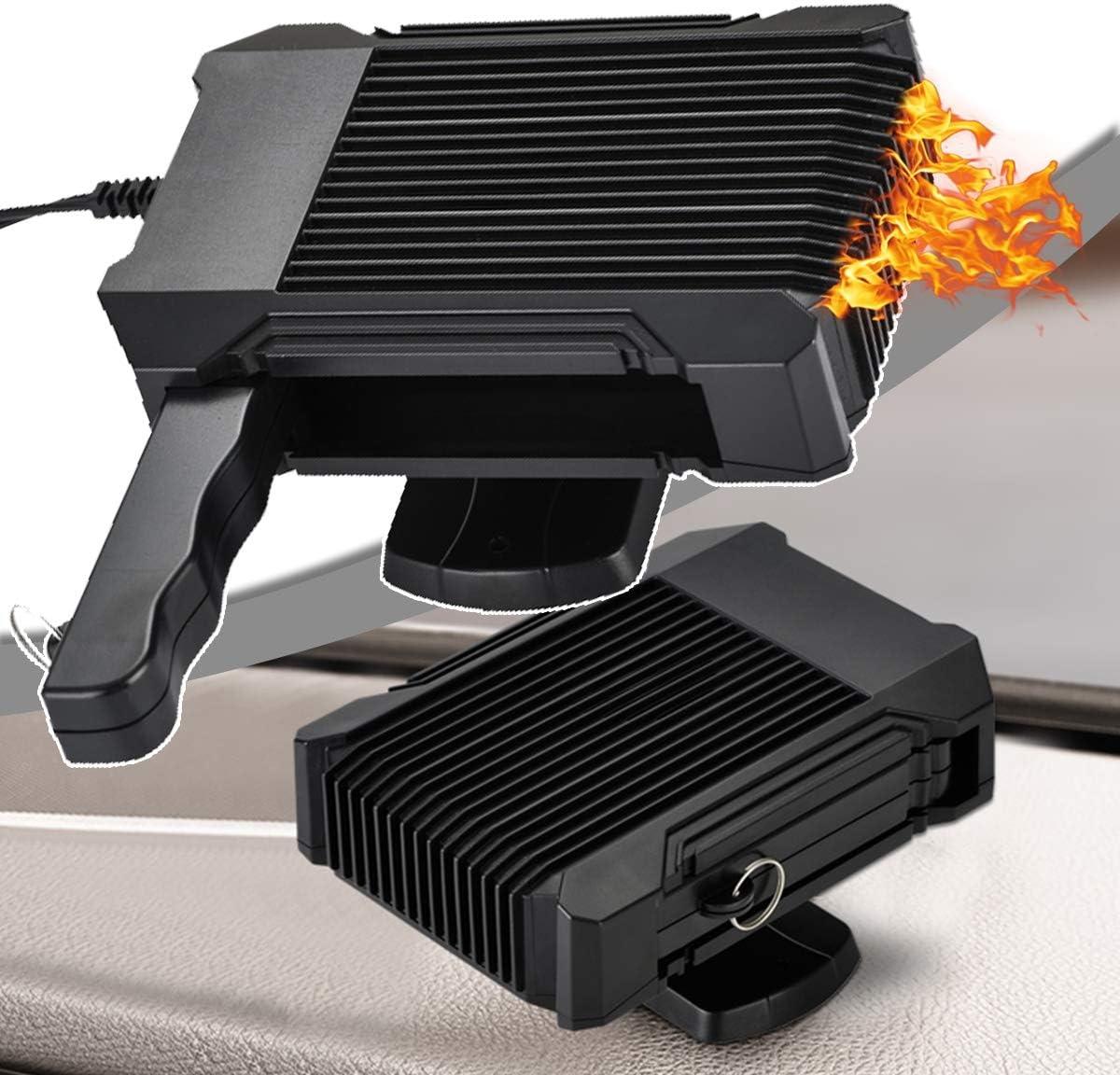 HIMAmonkey Coche Calefactor, 12V/24V Universal Desempañador deCalentamiento Automático, Calentamiento Rápido, 2 en 1 Calentamiento/Enfriamiento Calentador para Remolque Camión SUV Automóvil