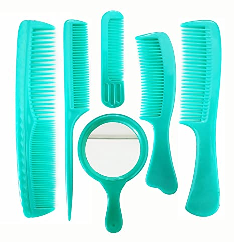 Buy Professional Hair Cutting Comb Set With Mirror , 6 Pcs