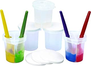 product image for Colorations SPLITC Double-Dip Divided Paint Cups Multipack for Kids Painting Supplies(Set of 5)