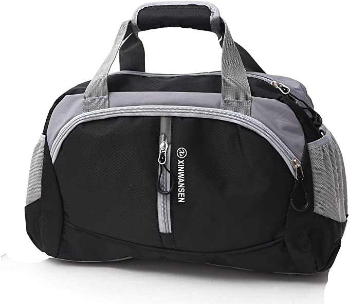XINWANSEN 20 litres Duffle Travel Bag Tote Carry-On Shoulder, Black, Size Medium