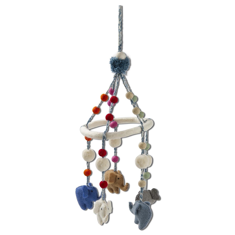 都内で タグ – Elephantポンポン付きモバイル、手作り吊り飾りIdeal for a子の部屋や子供部屋、マルチカラー(
