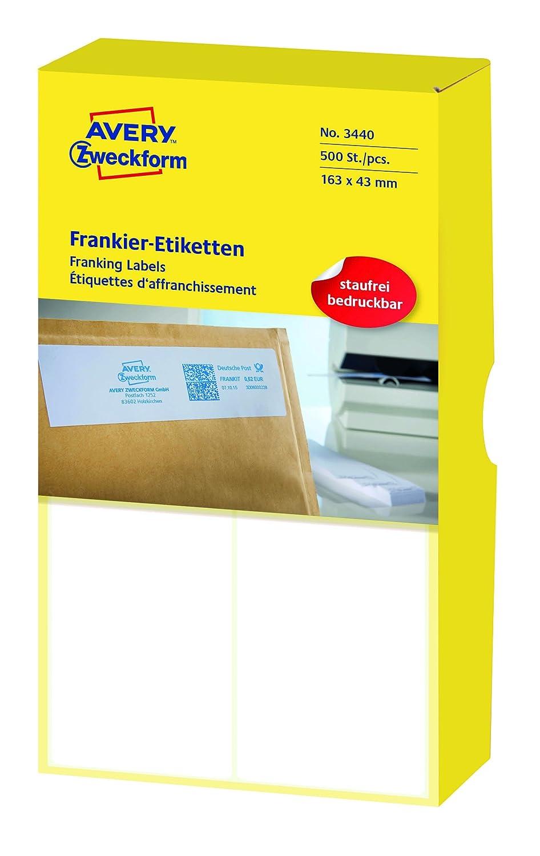 AVERY Zweckform 3434 Frankier-Etiketten (Papier matt, 1.000 Etiketten, 128 x 38 mm) 1 Pack weiß B000KJKFRO   Neuankömmling