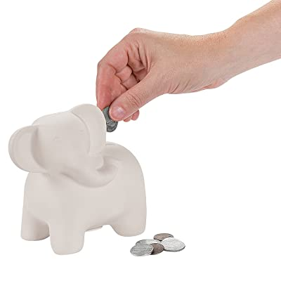 Do It Yourself Ceramic Elephant Bank - Crafts for Kids and Fun Home Activities: Toys & Games