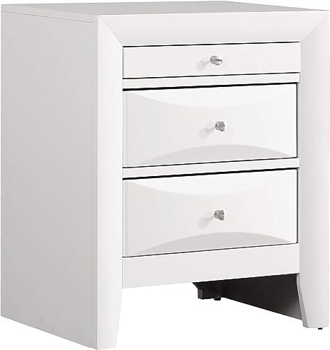 Glory Furniture 3 Drawer Nightstand White Furniture Decor