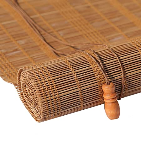 Shao Jun Roller Blind Bamboo Curtain Natural Nanmu Drawstring