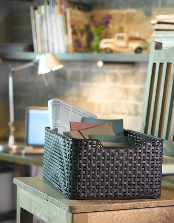 28.5 x 19.4 x 13 cm CURVER Aufbewahrungsbox Style 2 28,5x19,4x13cm in apfelgr/ün Plastik