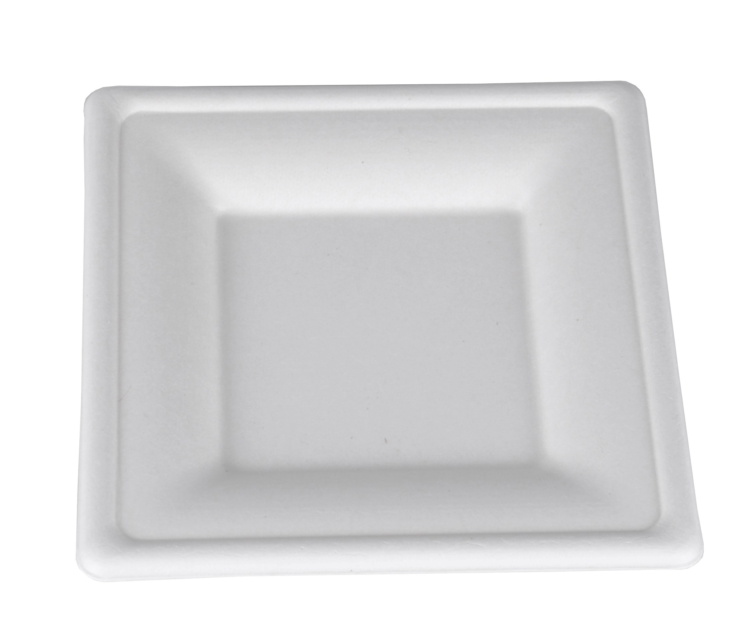 Southern Champion Tray 18620 ChampWare Square White Molded Fiber Heavy Weight Pulp Plate, 6'' L x 6'' W (Case of 500)