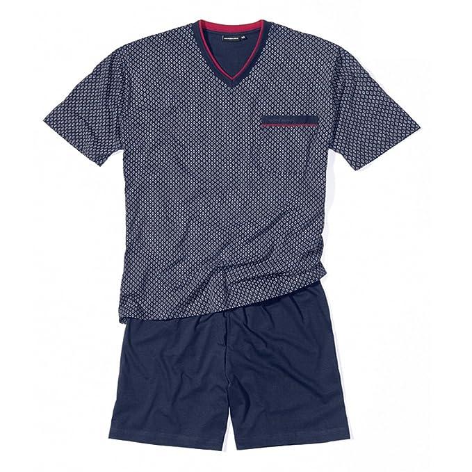 Götzburg Pijama Shorty Azul Oscuro Estampado Oversize, 60/62-80:58