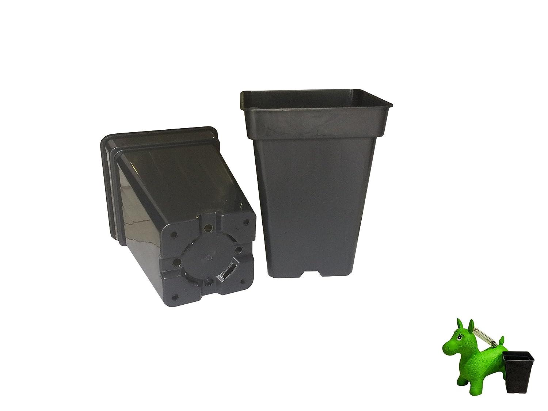 Vierkant-topf 6 x 3 L liter 4-Kant Topf viereckig Blumentopf Anzucht Pflanz Topf