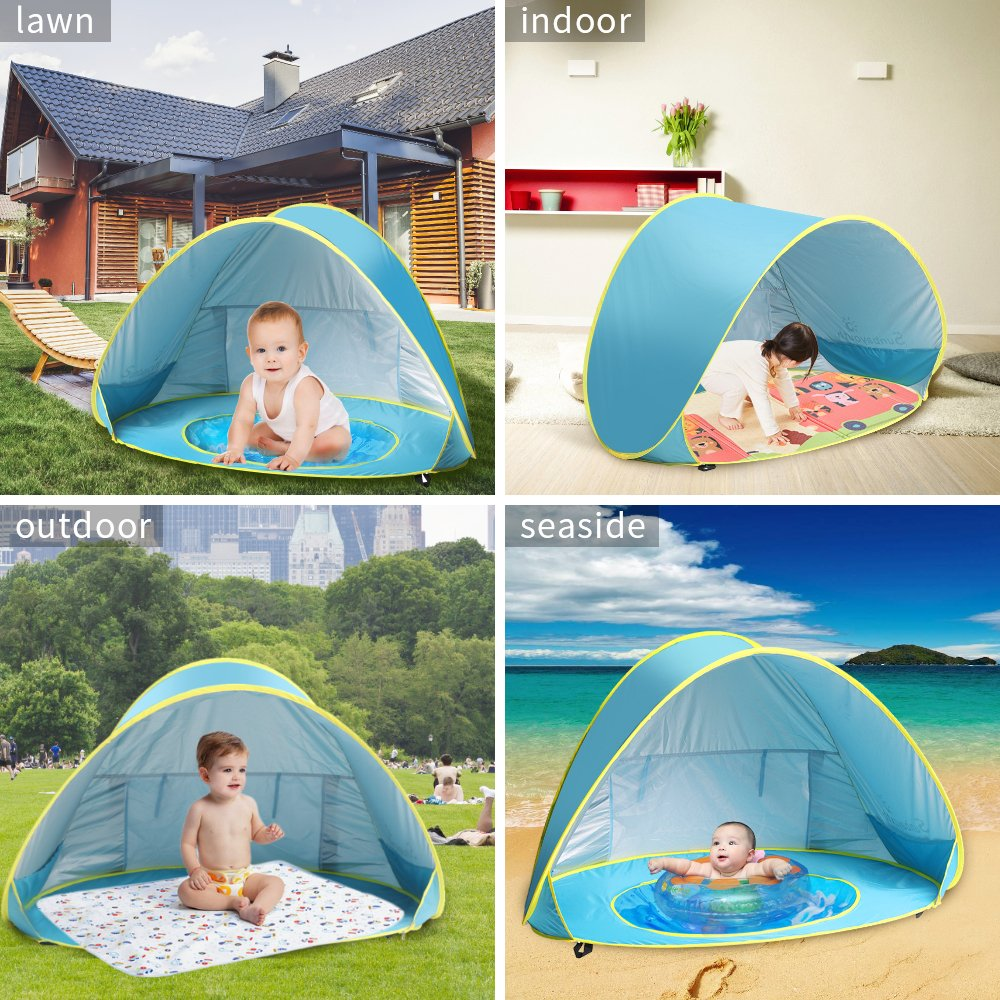 Baby Beach Tent Beach Umbrella Sunba Youth Pop Up Tent