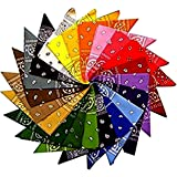 12 Assortiti Colore Bandane