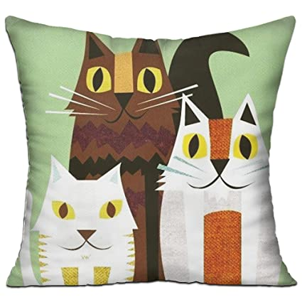 Animated Cat Comfortable Sofa Pillow Throw Pillow Case Cushion Cover Home  Sofa Decorative Office Chairs,