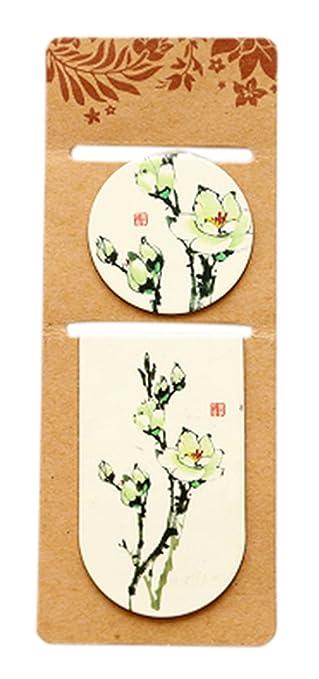 10 Stück Orchidee Little magnetisches Lesezeichen Mini Book Pages Clip